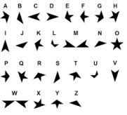 black star alphabet
