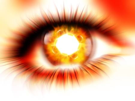 eyes fire