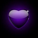 cuore-di-vetro-viola-sul-nero-22969089
