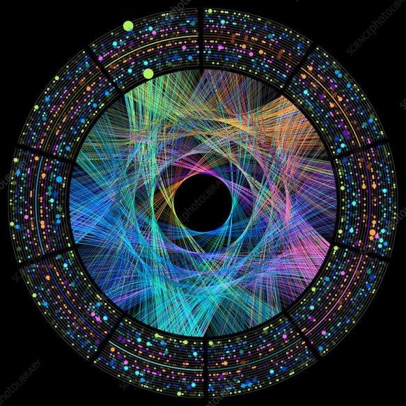 Pi number wheel representation, illustration