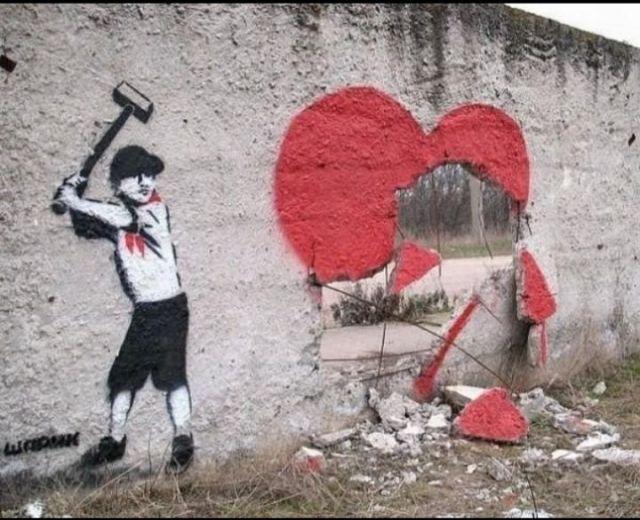 heart banksy