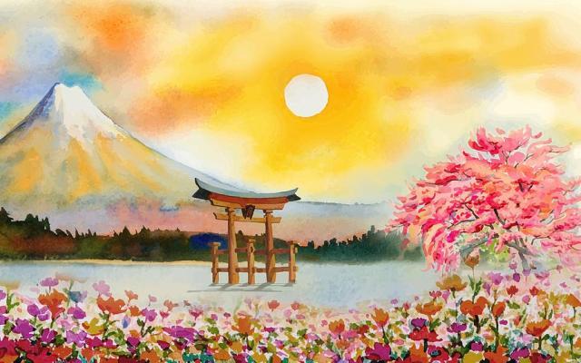 watercolor-landscape-kedadria-abdeslam